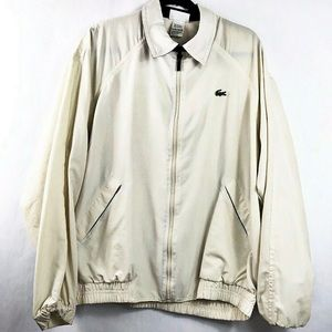 Lacoste Zip Up Size 6 or Large Windbreaker Cream